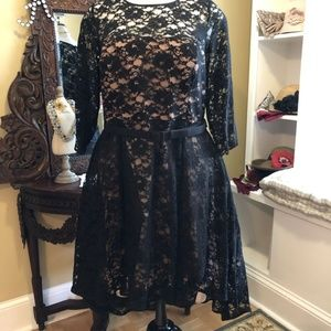 City Chic Retro Black Lace Dress